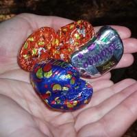 Čokoládové bonbony prodávané na váhu