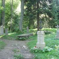 Hřbitov v místě bývalé obce Brzegi Górne