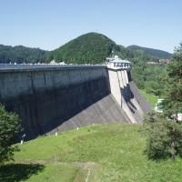 Betonová hráz přehrady Solina