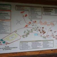 Mapa skanzenu v Sanoku