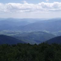 Výhled na Užanský národní park z polsko-ukrajinské hranice